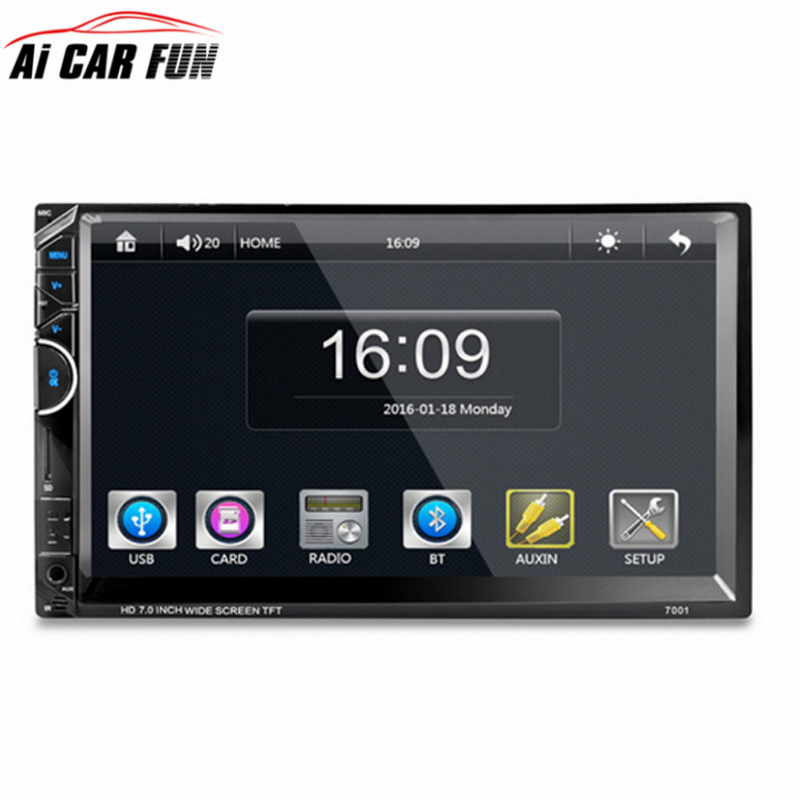 7001 7 Inches Auto 2 Din Car MP5 Player without Camera Support Bluetooth Hands-free Calls with SD/MMC card Slot Remote control 2015 new support rear camera car stereo mp3 mp4 player 12v car audio video mp5 bluetooth hands free usb tft mmc remote control