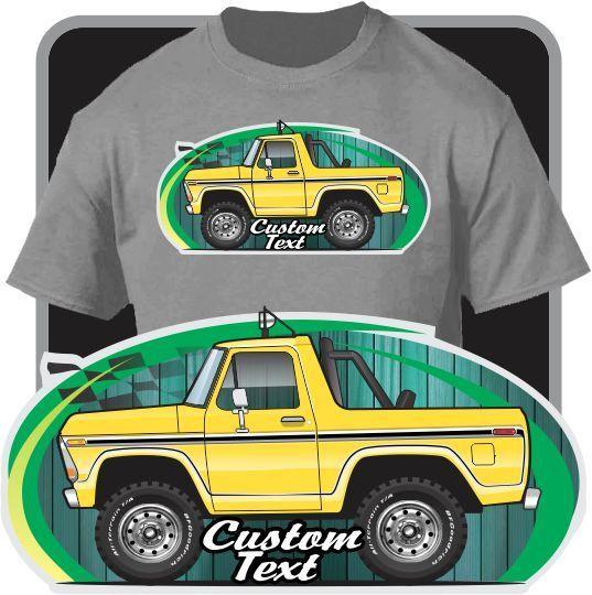2018 Newl Men'S Fashion Custom Art T-Shirt Cartoon 1978 1979 Ranger Open Bronco Not Affiliated with American Classic Car Shirt