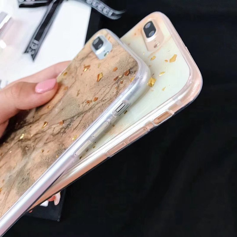 Luxury Gold Foil Bling Marble Phone Case For iPhone X XS Max XR 7 8 6 6s Plus Soft TPU Glitter Cover Case Funda Coque in Fitted Cases from Cellphones Telecommunications