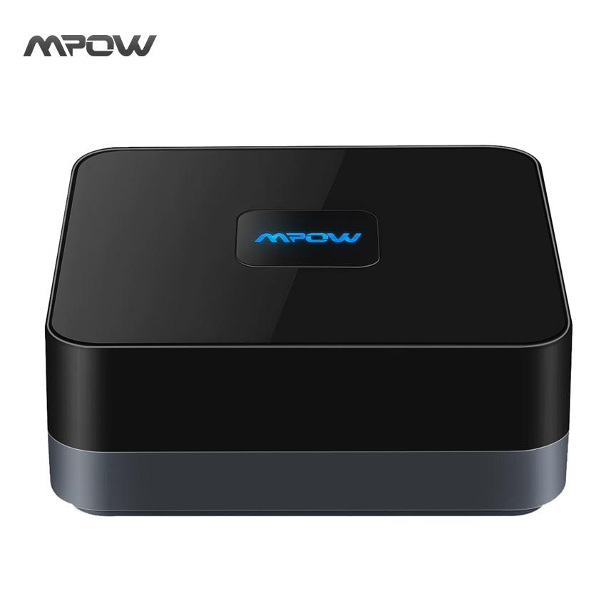 Mpow Drahtlose Bluetooth 4,1 Audio Adapter 3,5mm RCA Kabel w/High-fidelity Stereo-Sound und Eingebaute batterie für iPhone