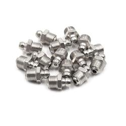 Uxcell 15pcs M10 x 1 Motorbike Car Nickel Plated Straight 45 Degree 90 Degree Grease Nipple Fitting