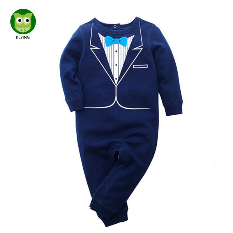 KEYING Toddler Baby Rompers Autumn Roupas Infant Jumpsuits Boy Clothing Sets Newborn Cotton Baby Clothing Spring