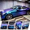 2016 New Arrival Magic Diamond Chameleon Purple To Blue Vinyl Car Wrap For Full Body Styling