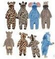 V-TREE Малыша Флис ребенка Ползунки мультфильм Животных Sleepsuit новорожденного ребенка детский комбинезон с длинным рукавом мальчики девочки одежды младенца пижамы