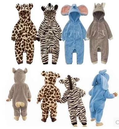 V-TREE Toddler Fleece Sleepsuit mamelucos del bebé recién nacido Mameluco Del bebé Animal de la historieta pijamas de manga larga niños niñas ropa de bebé