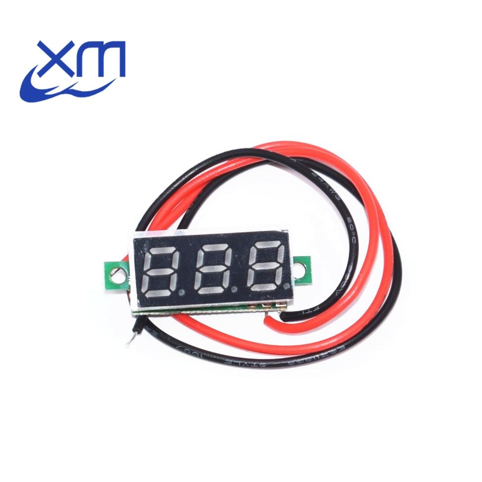 10pcs 0.28 Inch 2.5V-30V Mini Digital Voltmeter Voltage Tester Meter RED LED Screen Electronic Parts Accessories C51