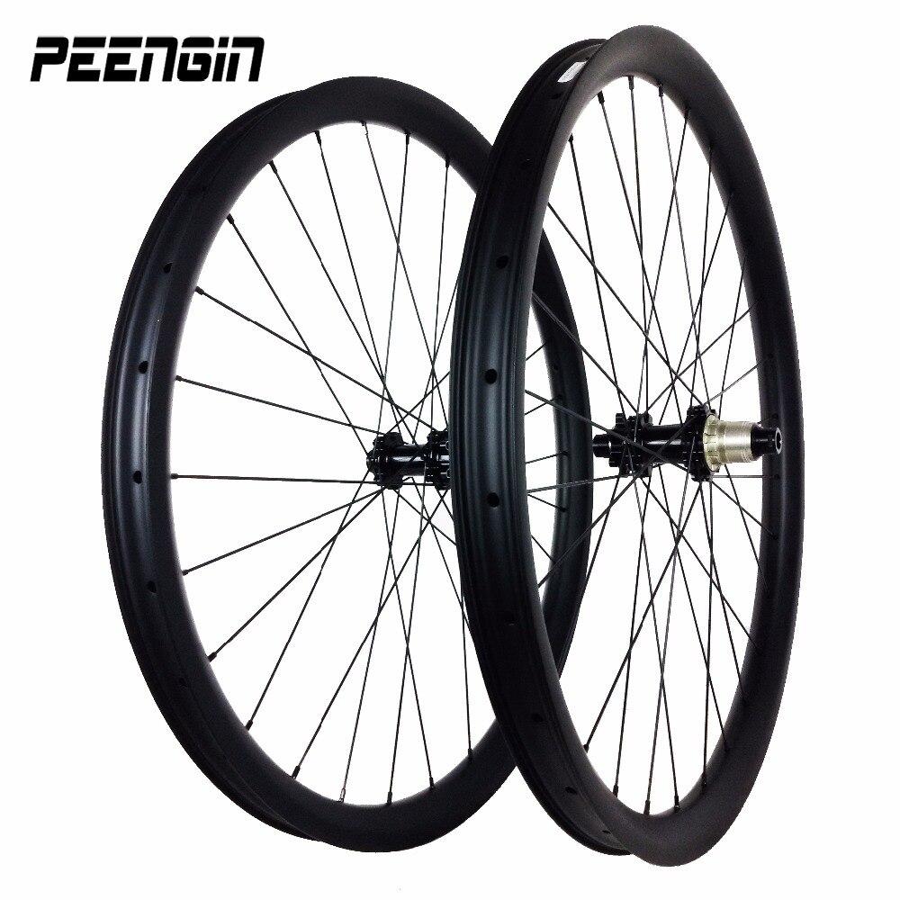 Luz da bicicleta de montanha bicicletas DH downhill Tubeless jantes 40X32mm D791 26 polegada rolamento de rodas com Novatec hubs mtb rodado de carbono