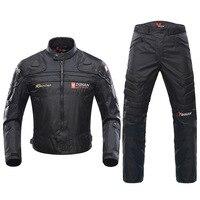 Духан ветрозащитный мотогонок костюм защитный Шестерни Броня мотоциклетная куртка + мотоциклетные штаны хип протектор Moto Костюмы комплект