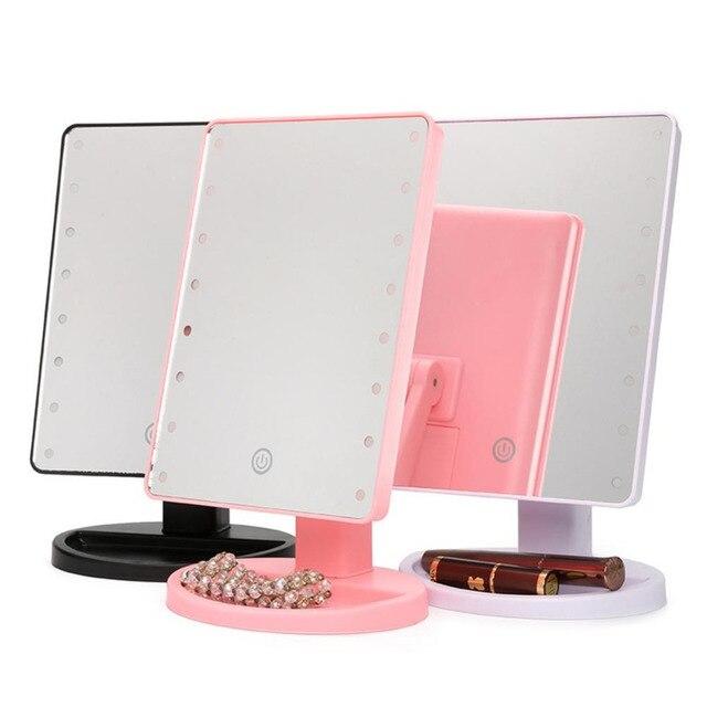 Specchi Professionali Per Trucco.Touch Screen 180 Gradi Specchio Per Il Trucco Specchio Cosmetico