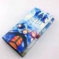 Colorful long style PU wallet printed w/ NARUTO Uzumaki Naruto Uchiha Sasuke and Haruno Sakura