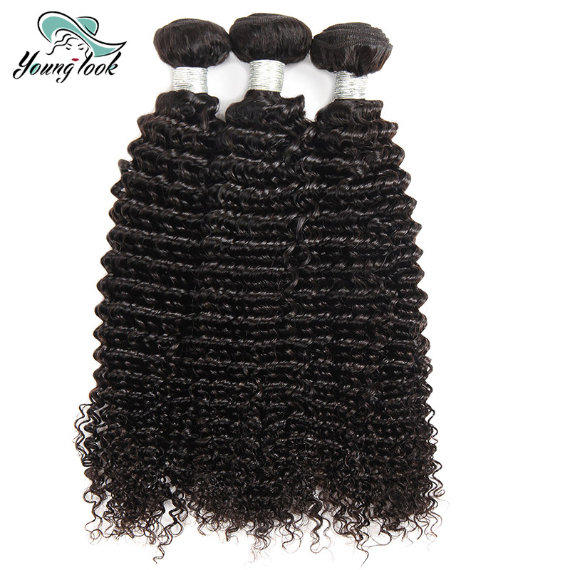 YOUNG LOOK HAIR Malaysian Curly Weave Human Hair 3 Bundles Deal Remy Hair Bundles 100% Natural Color Hair Weaving Free Shipping