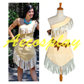 Custom made Pocahontas India Princesa Cosplay Halloween Mulheres Vestido