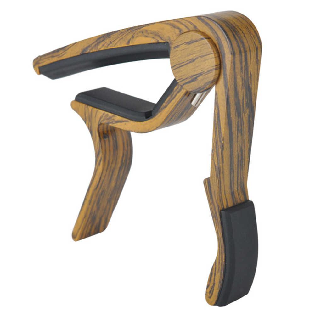 Акустическая профессиональная быстрая замена ключа деревянная тонкая застежка гитара капо классический звук Настройка гитарный тюнер MA-10A \ B \ C \ D