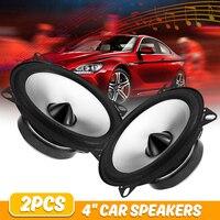 2 шт. 4 дюйма 60 Вт 2 пути автомобильный коаксиальный динамик авто автомобильный Hifi полный диапазон частотной чувствительности мощность громк...