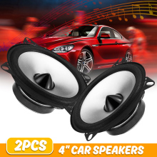2Pcs 4 inch 60W 2 Way Car Coaxial Speaker Auto Automotive Hi