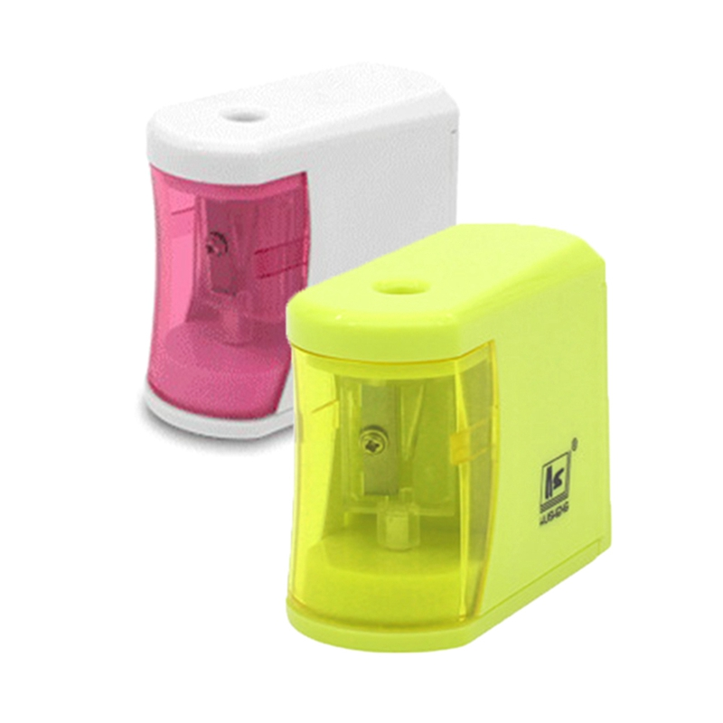 White Green Color Pencil Sharpener Automatic Electric Battery Switch For Home Office Students Gift gift n home