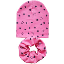 1 set Cotton Baby Hat Scarf for Boys Girls Autumn Winter Kids Children Cap Scarf-Collar Warm Beanies with I Love MAMA PAPA Print