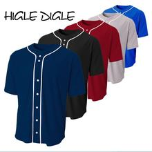 Бейсбольные футболки на заказ, Трикотажные изделия для бейсбольной команды, можно добавить свое имя и логотип