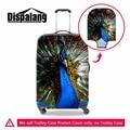 Pavão bonito bagagem tampas de proteção mala tampas de proteção à prova d' água acessórios de viagem na venda bagagem spandex capas