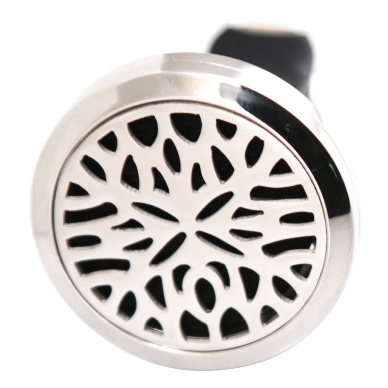 Silver Jewelry Flower 30mm Diffuser 316 Stainless Steel Car Aroma Locket Essential Oil Car Diffuser Locket Free 10Pcs Felt Pads
