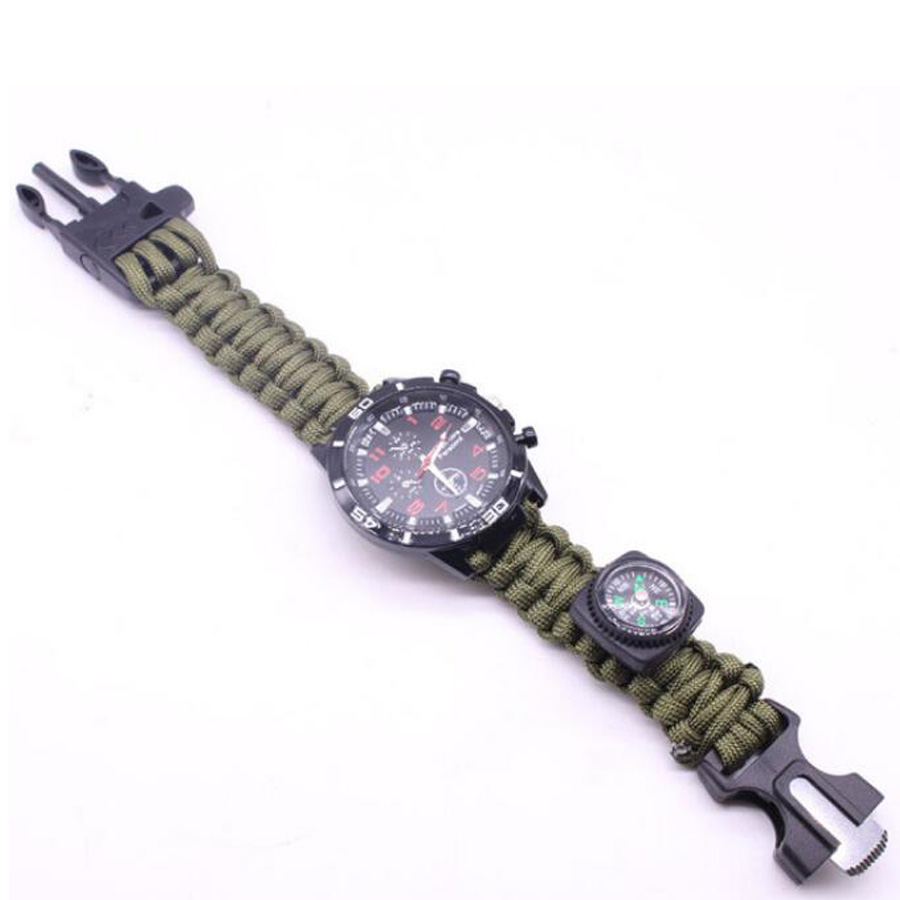 Military Outdoor Paracord Survival Bracelet Compass (13)