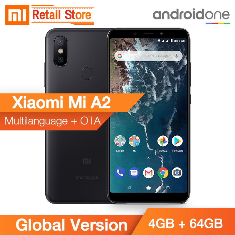 And Children Women Global Version Xiaomi Mi A2 4gb 64gb Snapdragon 660 Octa Core 5.99 18:9 Full Screen Dual Ai Camera Metal Body Ce Android One Ce Suitable For Men