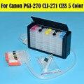 1 комплект СНПЧ Непрерывная система подачи сыпучих чернил для Canon PGI-270 CLI-271 PGI 270 CLI 271 СНПЧ для Canon принтер PIXMA