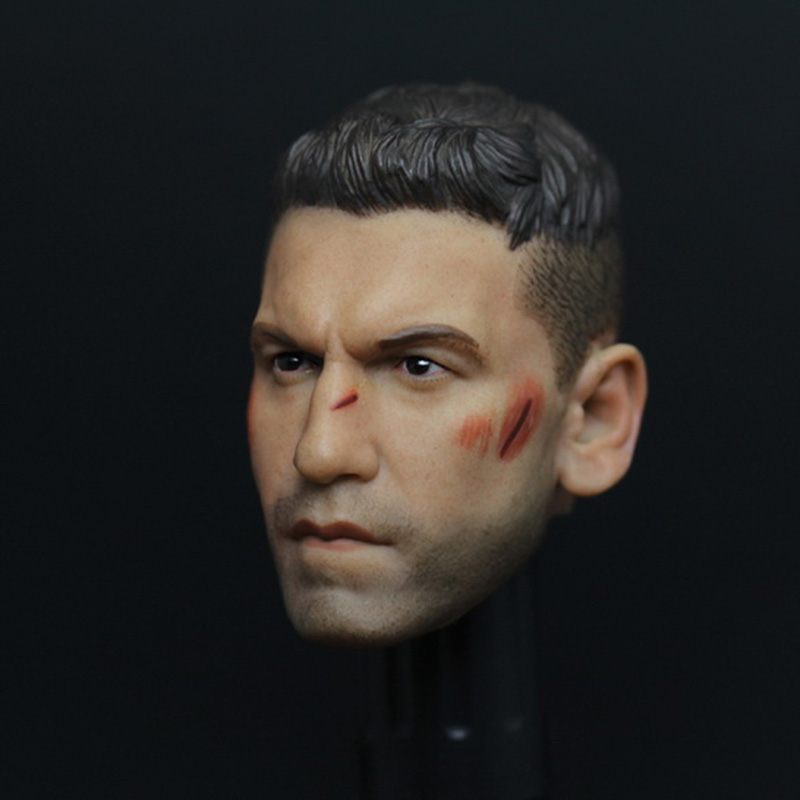 1/6 Daredevil Frank Custer Head Sculpt The Punisher Head Battle Damage Version for 12 inches Action Figure Collection daredevil volume 1