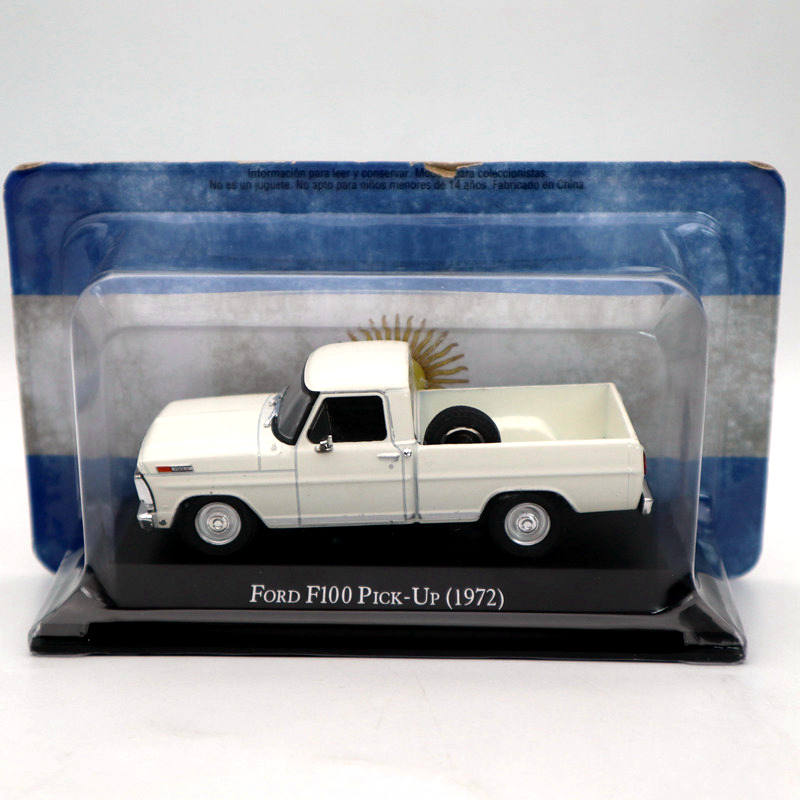 <font><b>IXO</b></font> Altaya <font><b>1:43</b></font> Ford F100 Pick UP 1972 White Diecast Models Limited Edition Collection Toys Car image