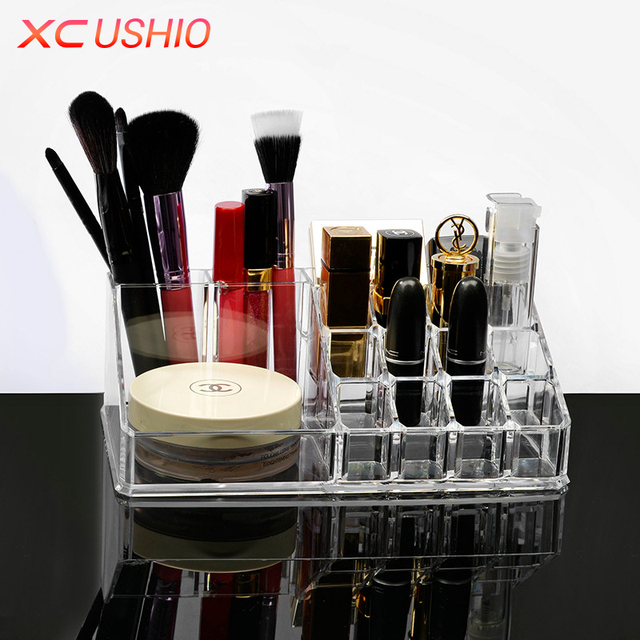 Acrylic Makeup Storage Box Transparent Cosmetic Jewelry Organizer