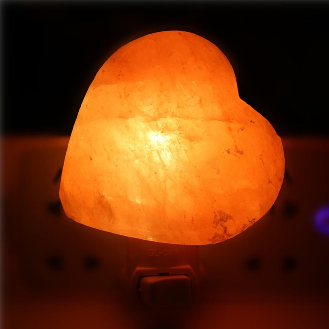 10W 220V Cylinder Spinner Plug Himalayan Salt Crystal Bedside Salt Crystal Lamp Air Purifier Night Light For Bedroom Led light