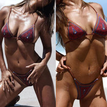 Women Bikini Triangle Push Up Geometric