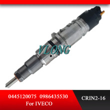 Diesel common rail fuel injector 0445120075 0 445 120 075 0986435530 for IVECO цена