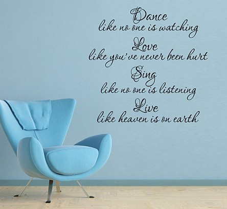 Free shipping  Dance Sing  English Quote / Saying Vinyl Wall Art Decal / Home Decor New year Mural Wall Stickers-in Wall Stickers from Home u0026 Garden on ...  sc 1 st  AliExpress.com & Free shipping