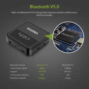 Image 3 - Bluetooth 5.0 verici alıcı kablosuz ses aptX HD düşük gecikme 3.5mm Jack/Spdif adaptörü TV kulaklıklar için araba PC
