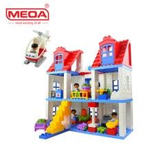 120 UNIDS Hospital Tema Grandes Ladrillos Duplo bloques de Construcción de Juguetes Bloques de Construcción de Juguete Educativo de DIY Bebé Conjunto Compatible con Legoeds