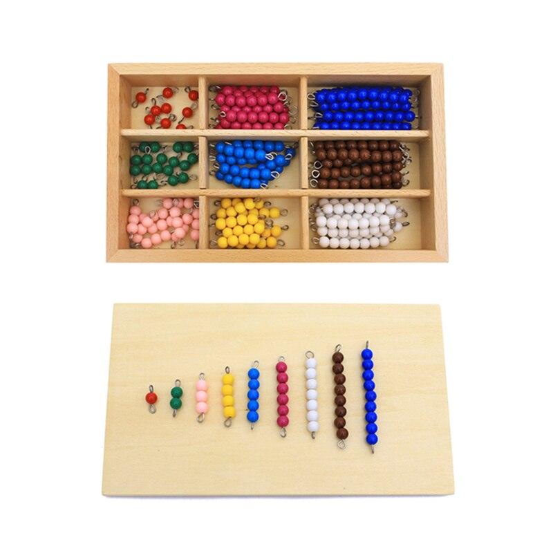 Juguetes para niños material Montessori juguete educativo de madera colorido tablero de cuentas matemáticas juguetes de educación preescolar de la primera infancia