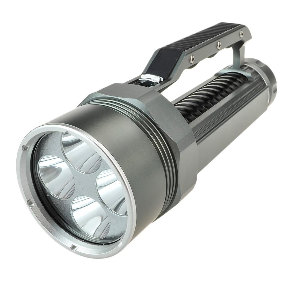 8000 Lumen 4xCree XM-L2 LED Diving Diver Torch Flashlight Lanterna Handheld Portable Led Underwater Flashlight By 18650 Battery supfire d8 160m professional portable explosion proof strong diving led flashlight searchlight 30 watts by 18650 battery