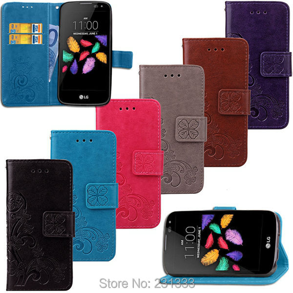 US $119 85 6% OFF|Lucky Clover Strap Wallet Leather Case Pouch For LG K3  LITE X Cam Huawei Ascend G6 ZTE Blade L110 Stand TPU ID Card Cover 50pcs-in