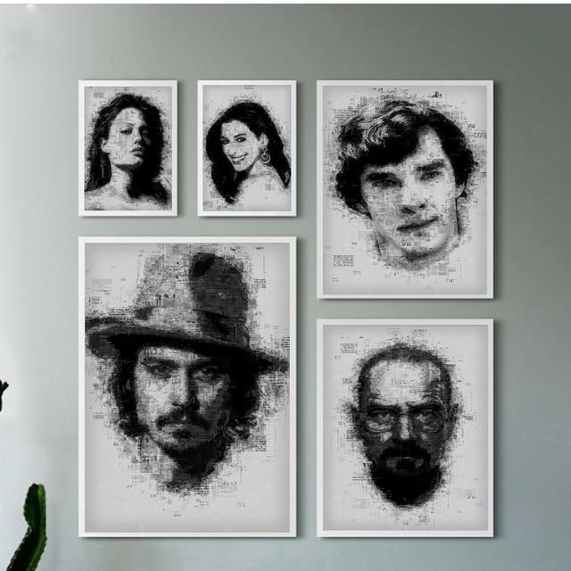 أنجلينا جولي آن Hathawa بنديكت Cumberbatc جوني إقلاع الفيلم ستار الفن قماش طباعة ملصق المنزل جدار ديكور اللوحة