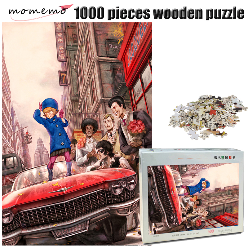 MOMEMO The Dance Wooden Jigsaw Puzzle 500/1000 Pieces Adult IQ Challenging Puzzle Toys 000 Pieces Puzzle Game for Children Gifts