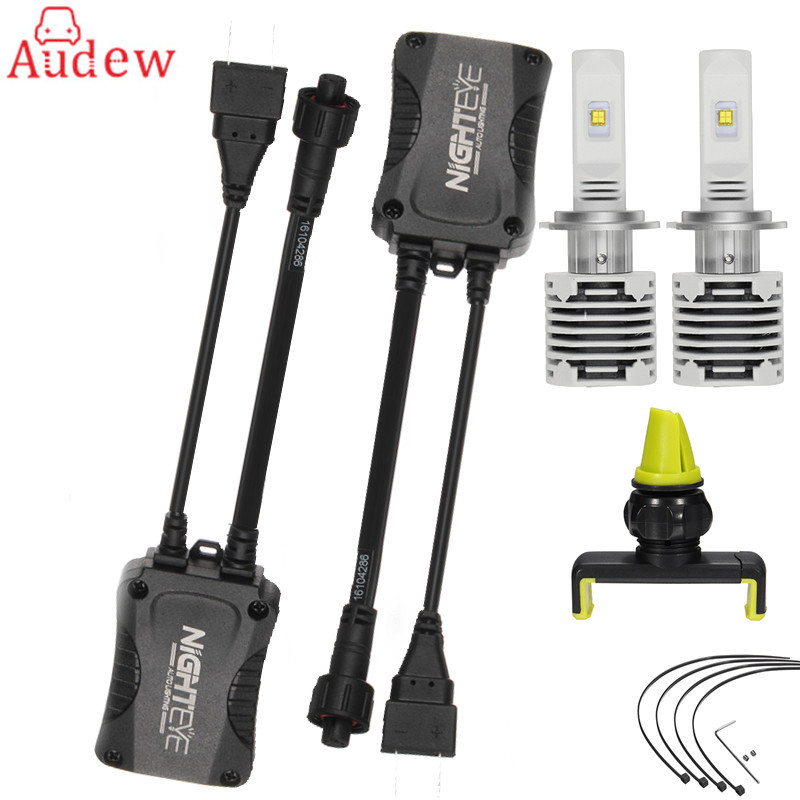 2Pcs H7 LED Headlight  Car Light Kit Light Bulbs For Cars Auto Care Waterproof Lamp Fog Light Bulb 2pcs set 72w 7200lm h7 cob led car headlight headlamp auto lamps led kit 6000k headlight bulb light car headlight fog light