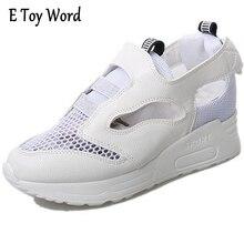 2017 Nuevo Producto Nuevo Verano Ahueca Hacia Fuera Las Sandalias de Plataforma de edición de han Zapatos de Tela Gancho de Pantalla Bucle Zapatos de Las Mujeres Ocasionales