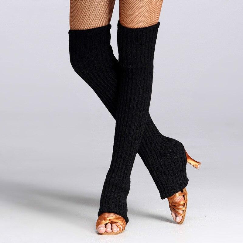 Fashion New Slim Women's Legs Warmers Gaiters Long Elastic Black Knitted Boot Socks Women Girl Professional Dancing Accessories