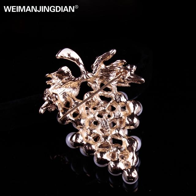 Pearl Grape Brooch Pins for Women