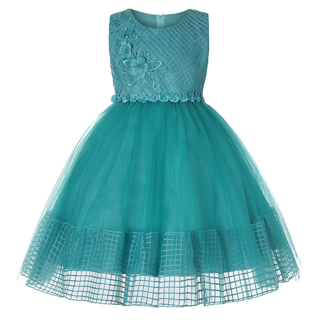 d34f7b49fccd5c Baby Girl embroidery Silk Princess Dress for Wedding party Kids Dresses for Toddler  Girl Children Fashion Christmas Clothing