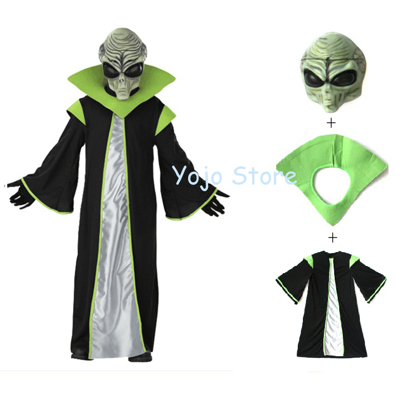 Child Deluxe All-powerful Leader Out Space Scary Alien Costume For Kids Robe Halloween Star War cosplay S M L