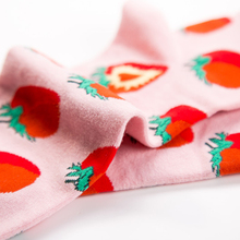 Personality Strawberry Pattern Autumn Winter Street Style Men's Socks Funny Happy Socks Cotton Men Socks Female Women Socks