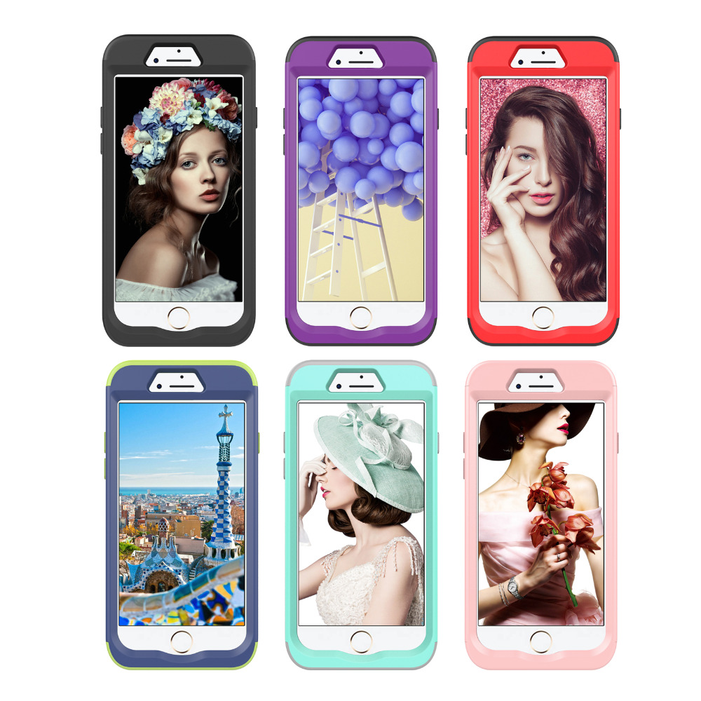 For iphone 7 case Hard&Soft Silicone Hybrid case for iPhone 8 case DILLON GUAN Silicone TPU + Plastic Shockproof back cover Capa