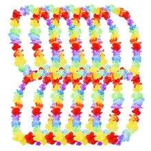 5 шт., Гавайские вечерние гирлянды с цветами Leis, ожерелье Hawai, цветочные украшения для дома, вечерние украшения
